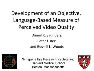 Development of an Objective, Language-Based Measure of Perceived Video Quality