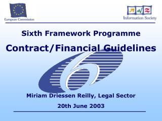 Sixth Framework Programme  Contract/Financial Guidelines
