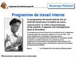 Programme de travail interne