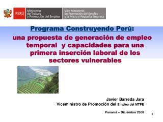 Programa Construyendo Perú :