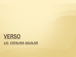 Lic. Catalina Aguilar
