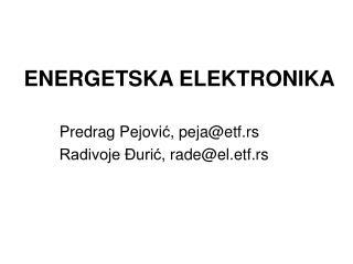 ENERGETSKA ELEKTRONIKA