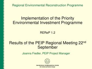 Regional Environmental Reconstruction Programme