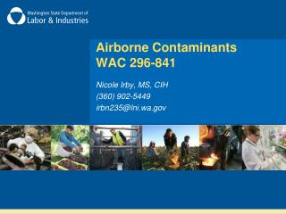 Airborne Contaminants  WAC 296-841