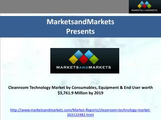Cleanroom Technology Market by Consumables, Equipment 2019