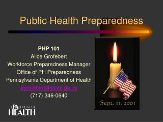 Public Health Preparedness