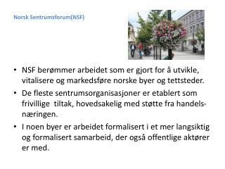 Norsk Sentrumsforum(NSF)