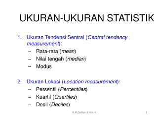 UKURAN-UKURAN STATISTIK