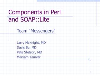 Components in Perl and SOAP::Lite