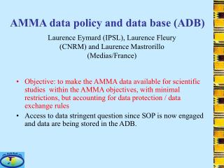 AMMA data policy and data base (ADB)