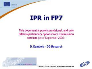 IPR in FP7