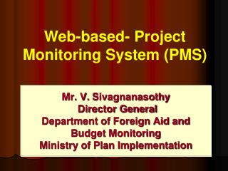 Web-based- Project Monitoring System (PMS)
