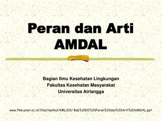 Peran dan Arti  AMDAL