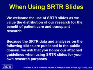 When Using SRTR Slides