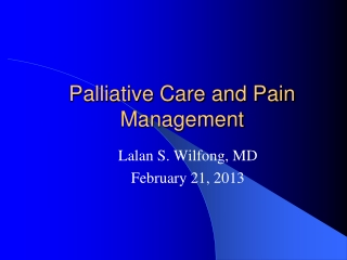 Enhance your care of patients with pain and update your  analgesic ladder  with newer therapies