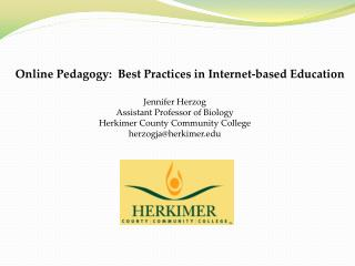 Online Pedagogy:  Best Practices in Internet-based Education