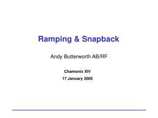 Ramping & Snapback