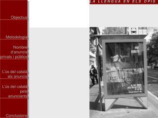 La  llengua en els anuncis  dels opis  de Barcelona