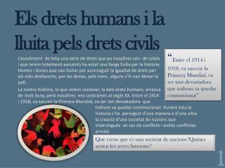 Els drets humans  i la  lluita pels drets civils