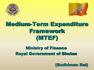 Medium-Term Expenditure Framework  (MTEF)