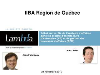 IIBA Région de Québec