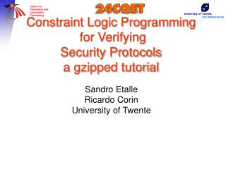 Constraint Logic Programming   for Verifying  Security Protocols a gzipped tutorial