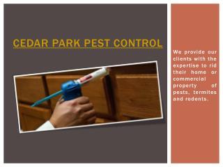 Cedar Park Pest Control