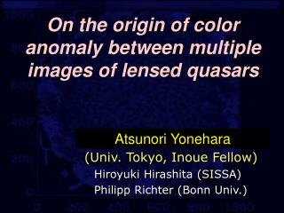 On the origin of color anomaly between multiple images of lensed quasars