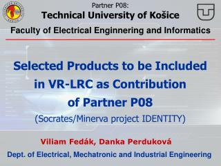 Dept. of Electrical ,  Mechatronic and Industrial Engineering