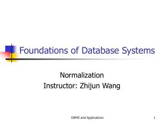 Foundations of Database Systems