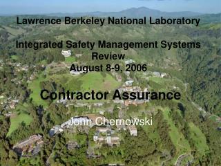 Contractor Assurance John Chernowski