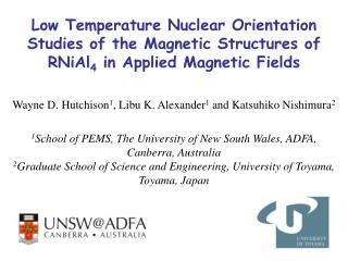 Wayne D. Hutchison 1 , Libu K. Alexander 1  and Katsuhiko Nishimura 2