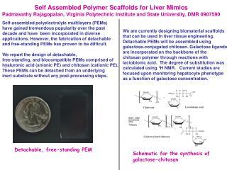 Self Assembled Polymer Scaffolds for Liver Mimics