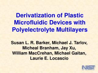 Derivatization of Plastic Microfluidic Devices with Polyelectrolyte Multilayers