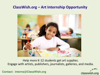 ClassWish – Art Internship Opportunity