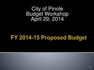 FY 2014-15 Proposed Budget