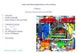 Status and Physics opportunities at the  F  factory
