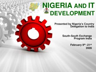 NIGERIA AND IT DEVELOPMENT