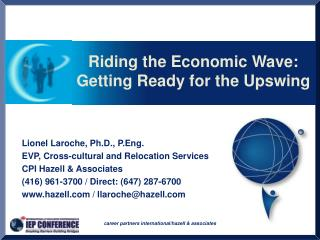 Riding the Economic Wave: Getting Ready for the Upswing