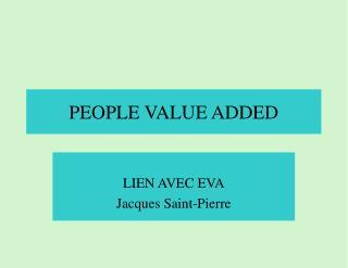 PEOPLE VALUE ADDED