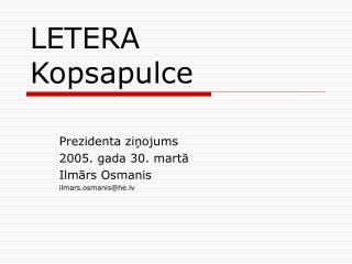 LETERA  Kopsapulce