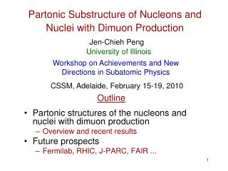 Partonic Substructure of Nucleons and Nuclei with Dimuon Production