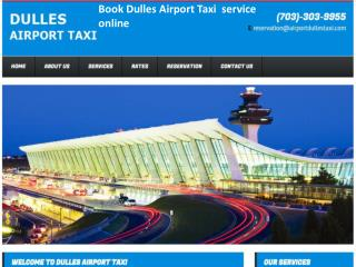Book Dulles Airport Taxi  service online