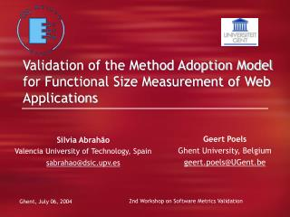 Validation of the Method Adoption Model for Functional Size Measurement of Web Applications