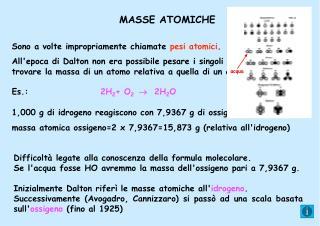 MASSE ATOMICHE