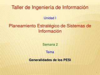 Taller de Ingeniería de Información