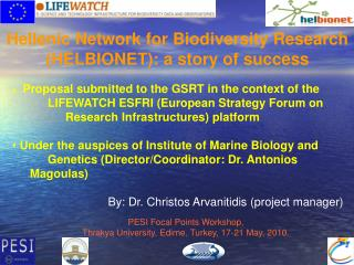 Hellenic Network for Biodiversity Research (HELBIONET): a story of success