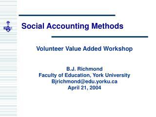 Social Accounting Methods