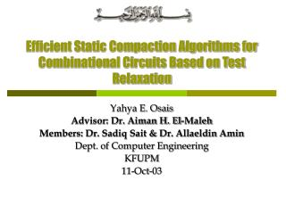 Efficient Static Compaction Algorithms for Combinational Circuits Based on Test Relaxation
