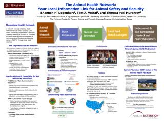 The Animal Health Network:   Your Local Information Link for Animal Safety and Security